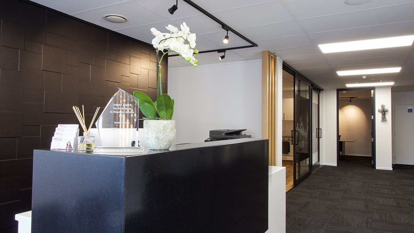 reception and office fitout dunedin