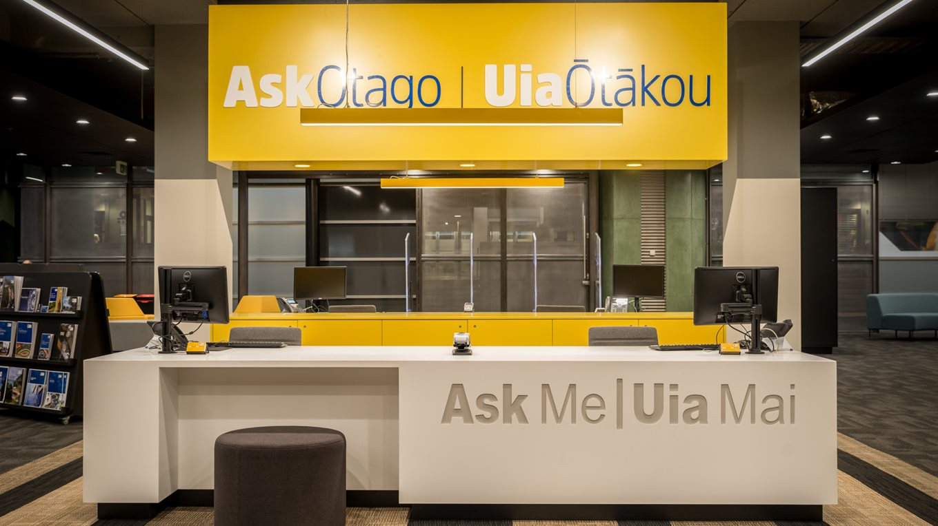 Ask Otago spatial design and layout