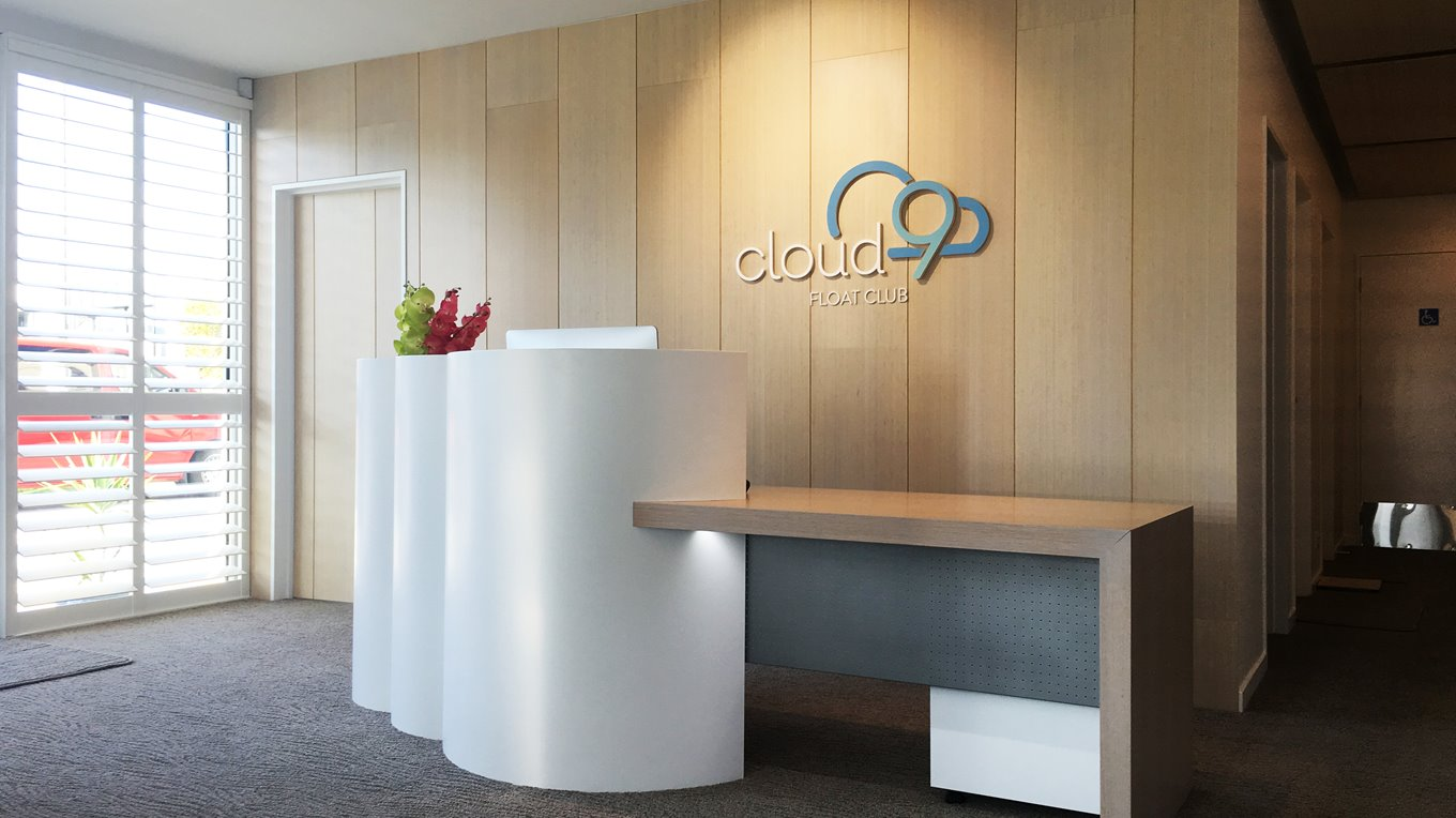 Cloud 9 float club fitout christchurch