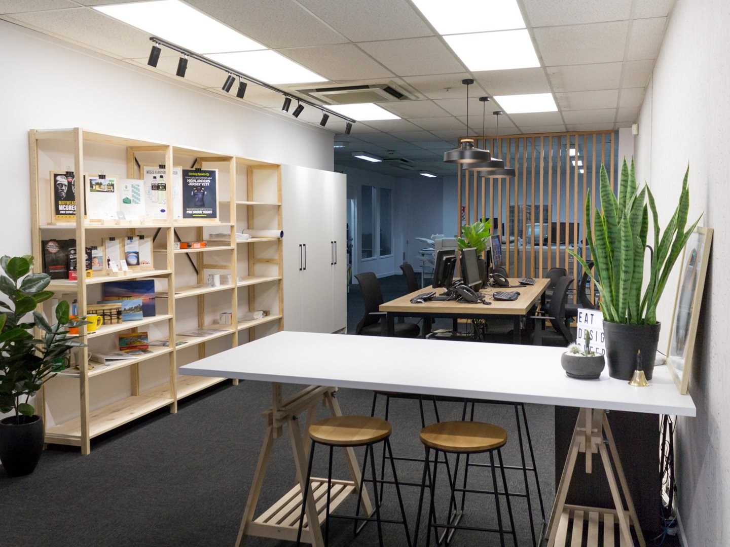 Ezyprint dunedin office refurbishment by miller creative group