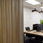 wooden partition wall commercial interior design miller creative dunedin thumbnail