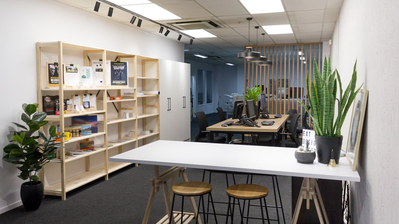 Ezyprint dunedin office refurbishment