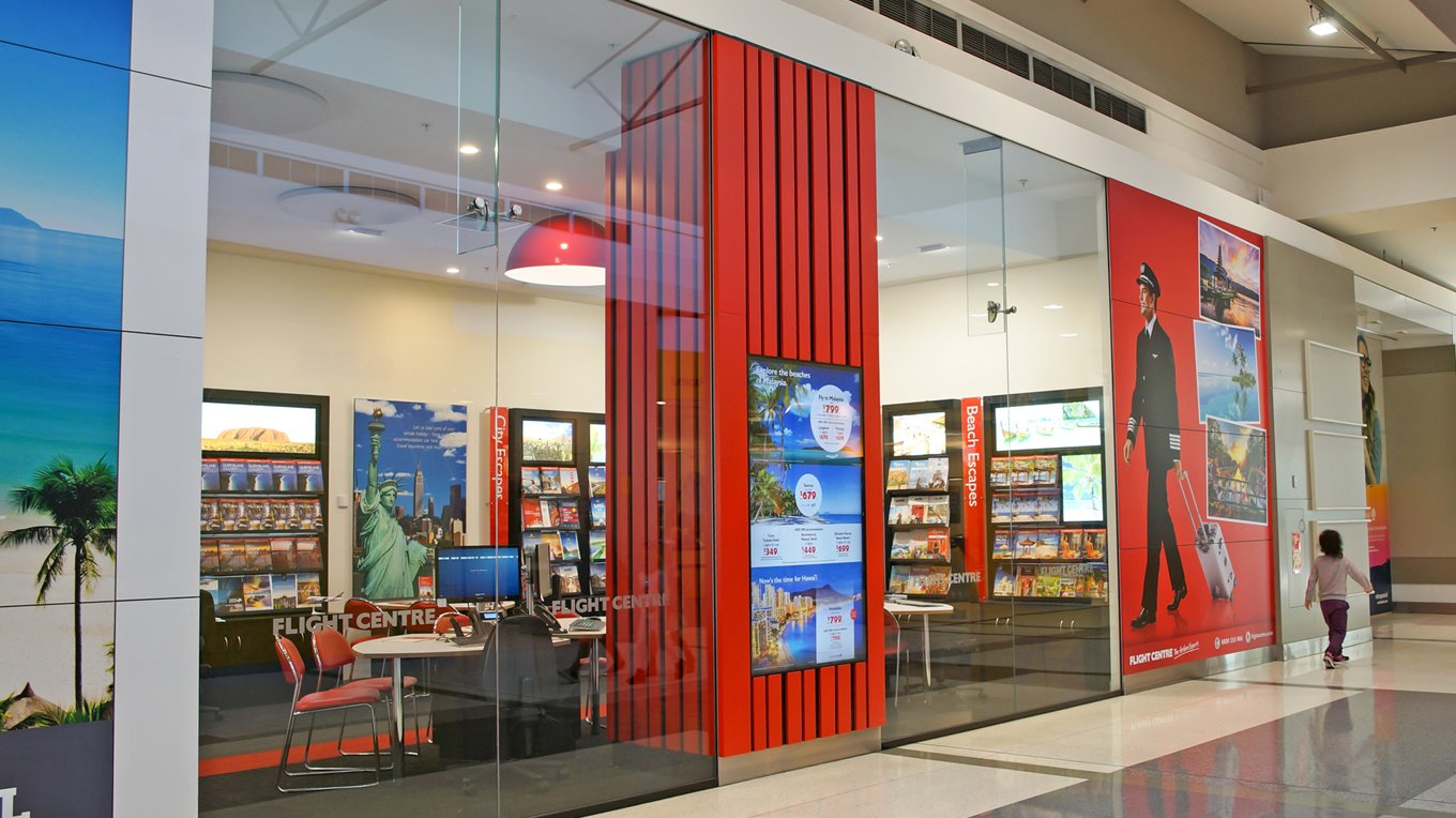 Northlands Mall flight centre shopfit out