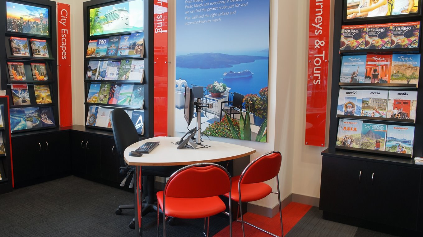travel retail fitout christchurch