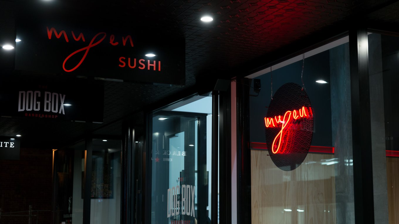 Mugen sushi shop front high street christchurch