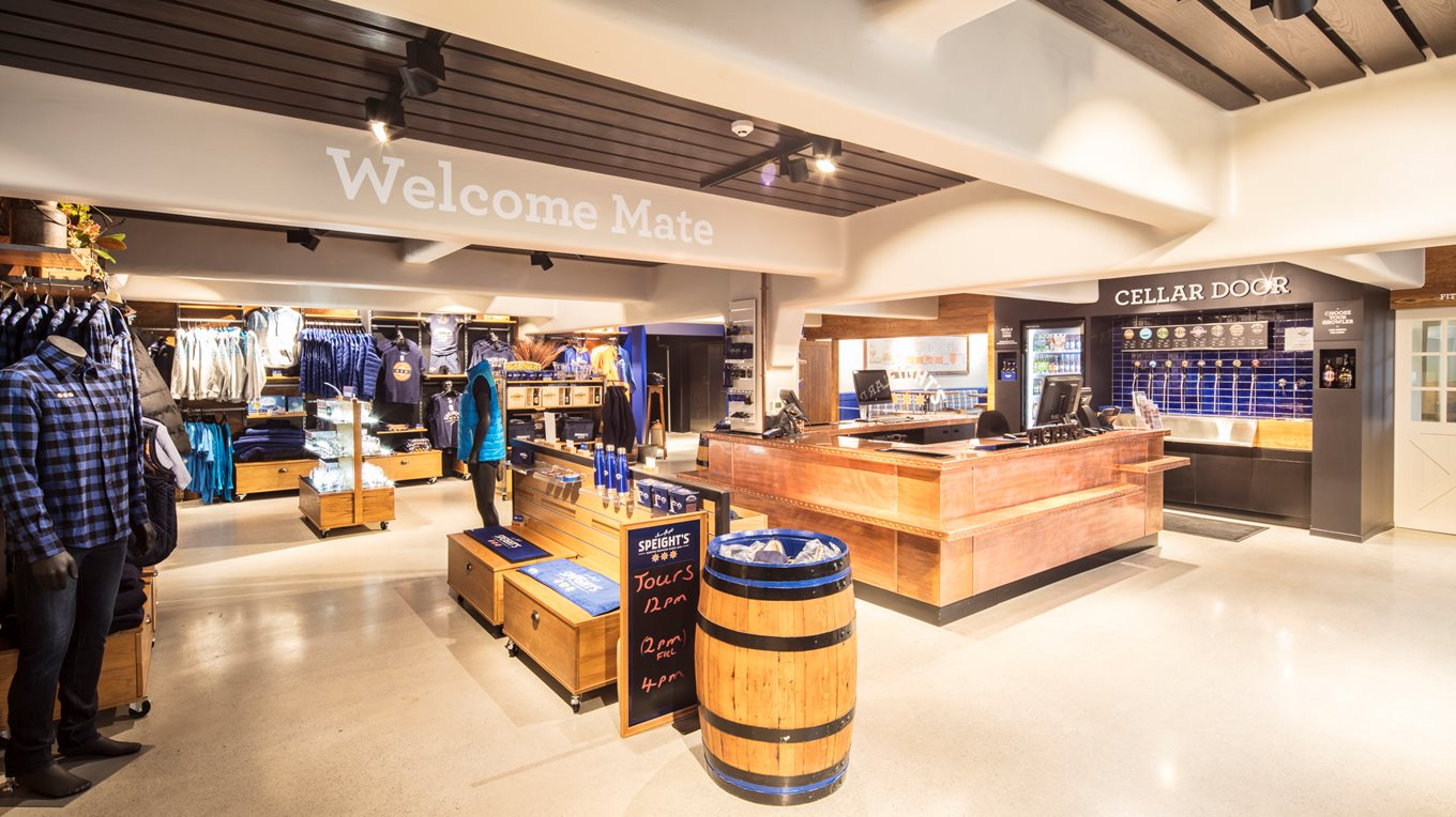 Retail fit out of Speight's Brewery Tour