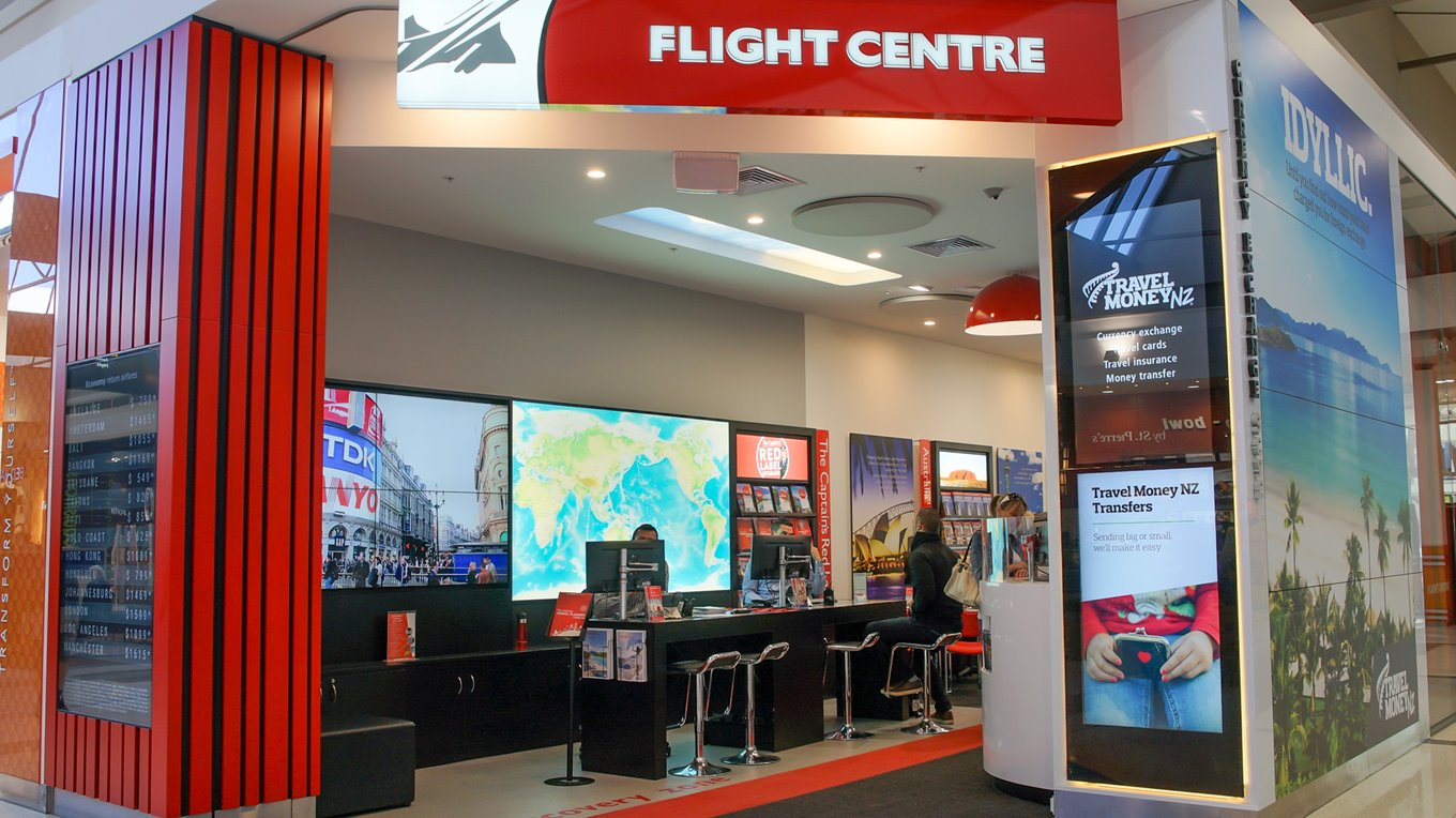 illuminated signage flight centre northlands