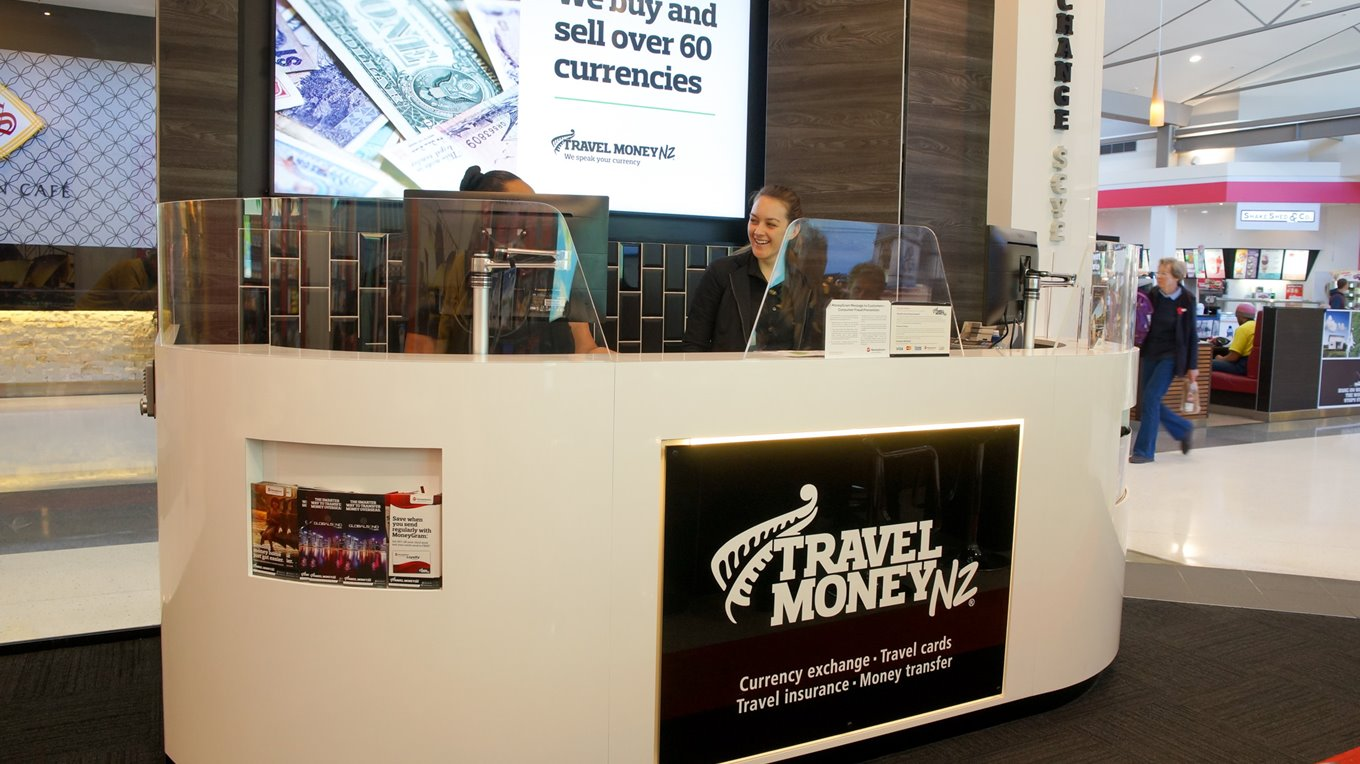 Travel Money signage Northlands christchurch