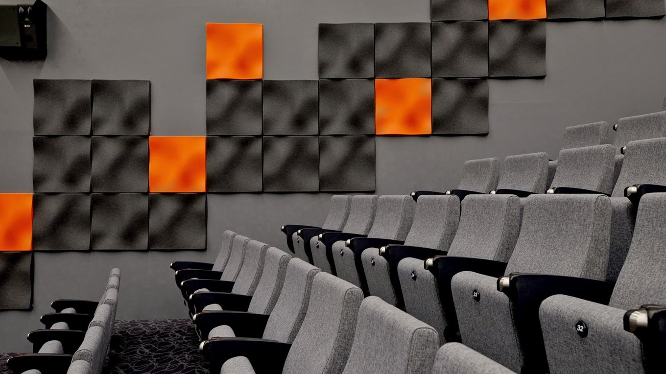 Acoustic treatment completed by Miller Creative
