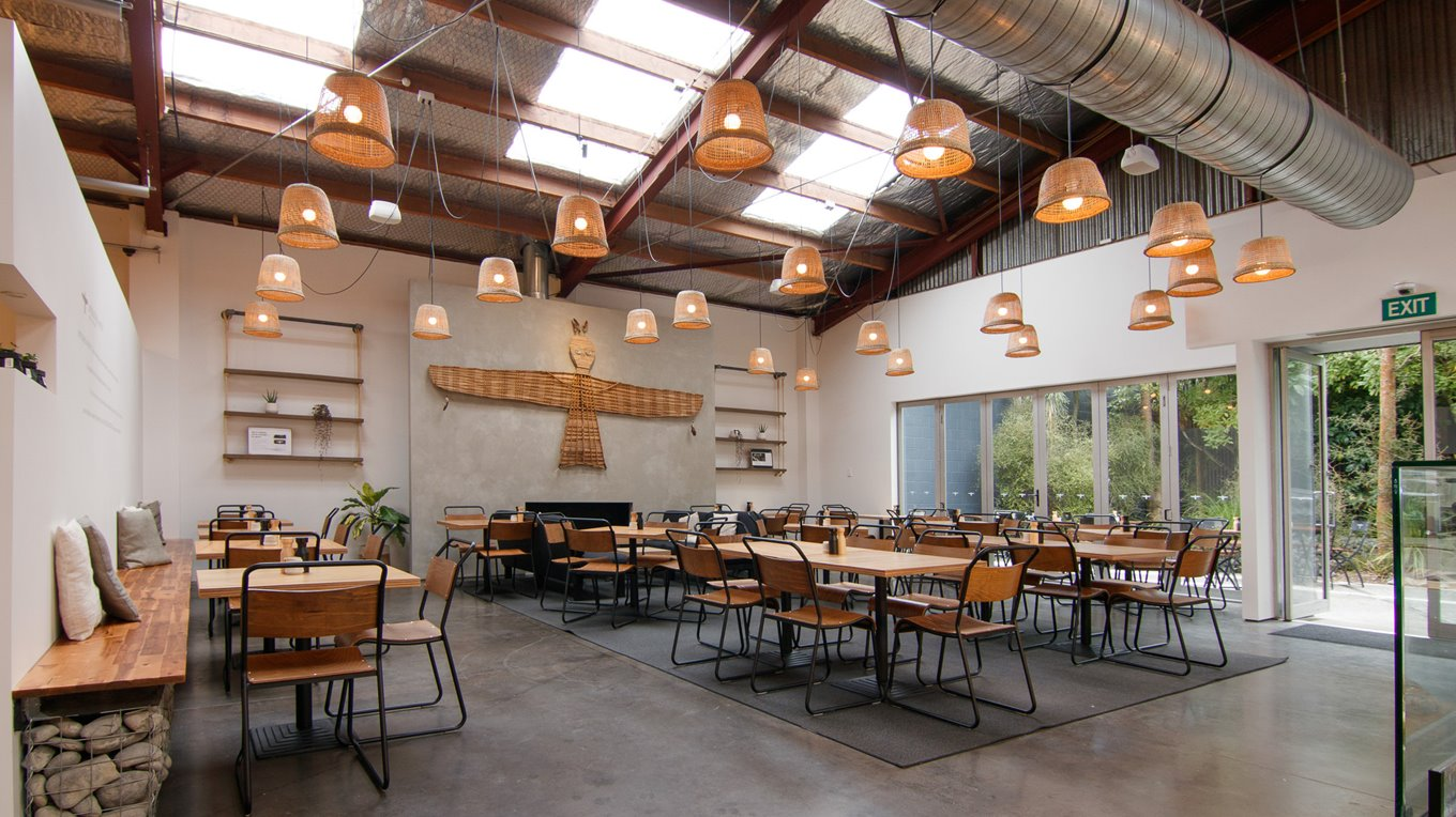 Cafe fitout Completed by Miller Creative in Christchurch
