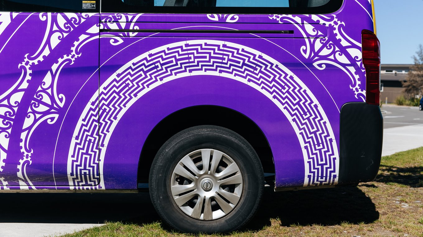 Van digital wraps completed by Miller Creative Group, Christchurch.